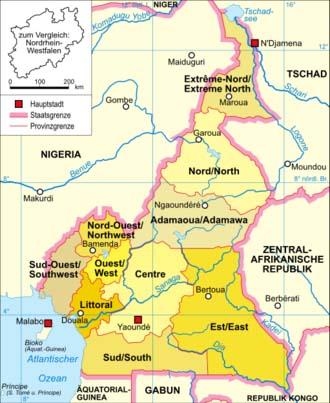 Kamerunkarte (politisch)