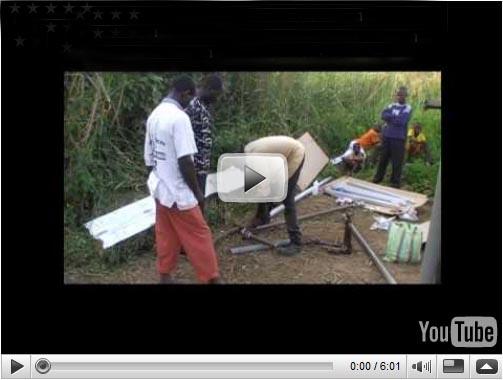 Installation Solarwasserpumpanlage in Bankim